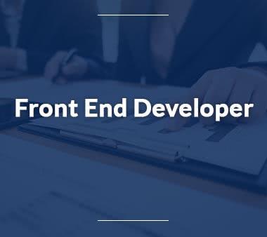 Front End Developer Fachinformatiker