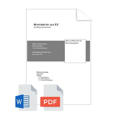 Bewerbungsmappe Deckblatt Muster