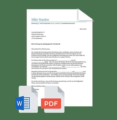 Bewerbungsvorlage Bewerbungsschreiben