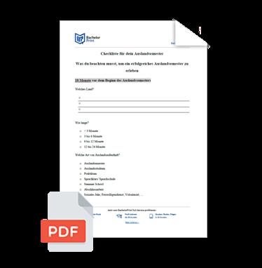 Auslandssemester Checkliste