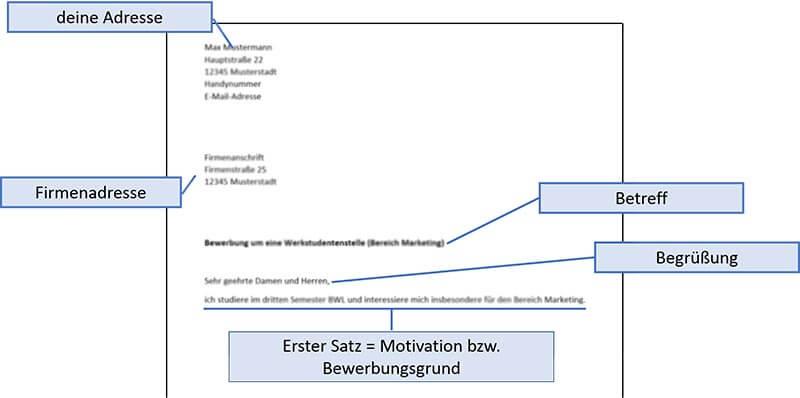 Initiativbewerbung Muster Einleitung