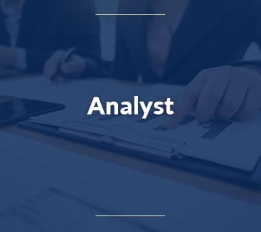 Analyst Bestbezahlte Berufe