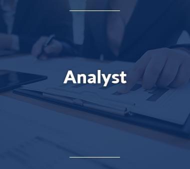 Analyst Technische Berufe