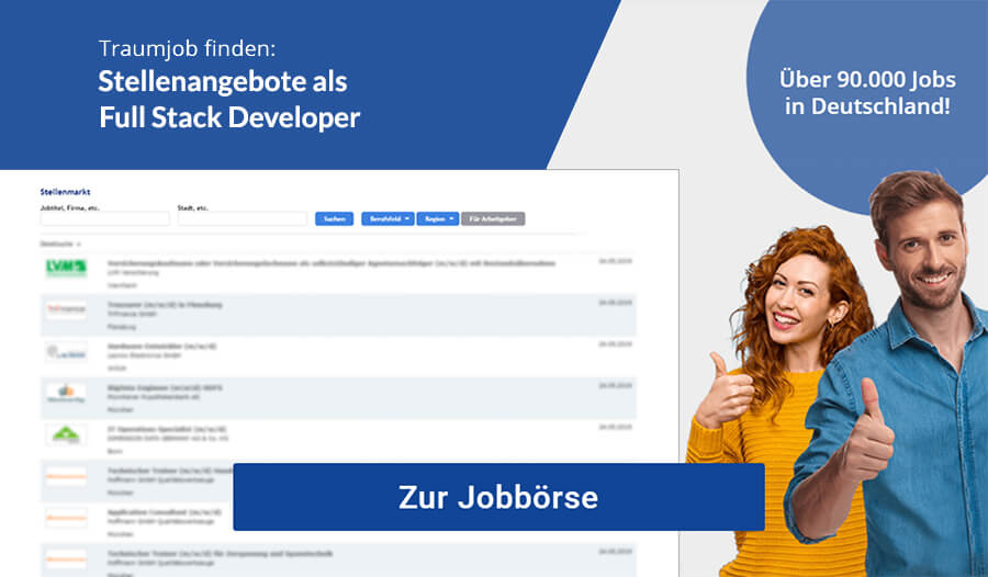 Full Stack Developer Jobbörse