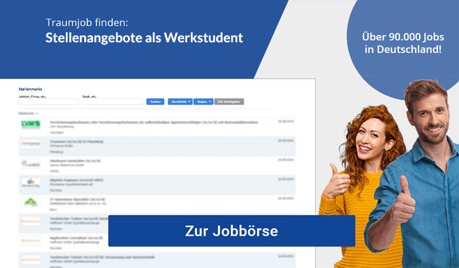 Bewerbung Werkstudent Jobs