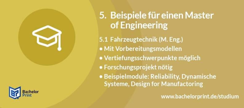 Master of Engineering Zugangsvoraussetzungen NC Studium