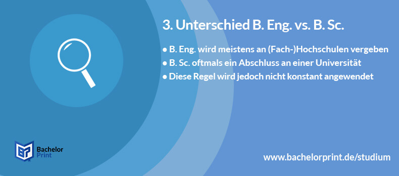 Bachelor of Engineering Unterschied B. Sc.